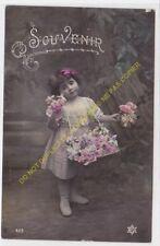 CPA Old Postcard vintage Child Enfant SOUVENIR Edit 423 PC