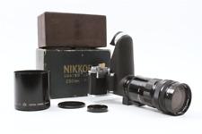 NIKON NIKKOR-Q 25cm 250mm f/4 LENS For Nikon S RF w/Zeiss Panflex & S2 Camera