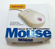 Vintage Mouse DEXXA 2B 2-Button 9 pin Serial Mouse for PC IBM DOS Compatible