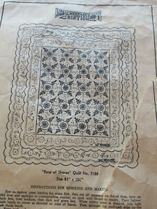 Vintage Home Needlecraft Creations Applique Quilt Top Kit Rose Of Sharon 81x101