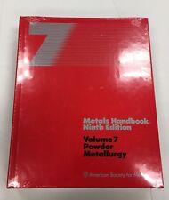 Metals Handbook 9th Edition Volume 7 Powder Metallurgy Brand New