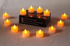 Batería LED de color ámbar de 12 Diwali Diya velas sin llama luz de té verde por PK