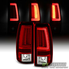 1999 2000 2001 2002 Chevy Silverado/GMC Sierra LED Tube Tail Lights Brake Lamps