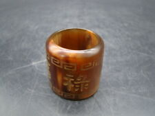 Chinese 1920's nice carved horn archer's ring   a1117