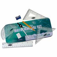 Premier - 8 Piece Maths Set Tin. Compass, Protractor, Sharpener, Ruler etc 27144