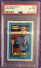 ⚾️ 1974 Kellogg Montreal Expos  #27 Ron Fairly PSA 6 EX-MT