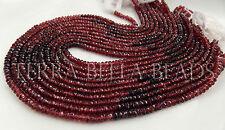 """13"""" shaded MOZAMBIQUE GARNET faceted gem stone rondelle beads 3.5mm - 4mm ombre"""