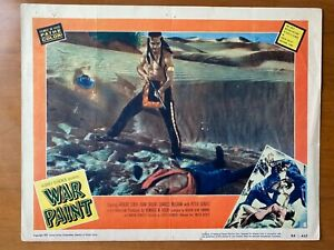 WAR PAINT 1953 Lobby Card Poster #8 Robert Stack Joan Taylor Peter Graves