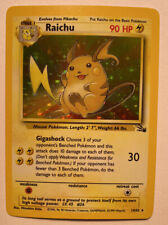 Raichu | Near Mint | Englisch | Base Set Fossil | Holo Pokemon no 1.Edition