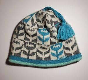Pistil Italy 100% Wool Winter Cap - Turquoise, Gray, Cream
