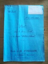 1 octobre 1945 Acte notarié - Bail Jacob Eliet Lescot La Pommeraye 5 pages
