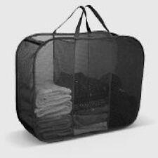 New Triple Laundry Hamper Washing Basket Clothes Storage Bin Foldable Organizer
