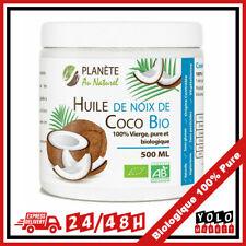Huile de Coco Bio 500 ml Vierge 100% Pure Biologique Soin Antioxydant Comestible