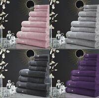 100% Cotton Abington Bath Towel Hand Towel Bath Sheet Sparkle Hand Towel 600 GSM