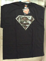 SUPERMAN SHIELD SIGN RUST T-SHIRT XL 46-48 NEW w TAG DC(ACTION 1000 BENDIS 52