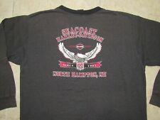 HARLEY DAVIDSON Seacoast LS Mens XL Shirt Grey North Hampton NH Motorcycles L/S