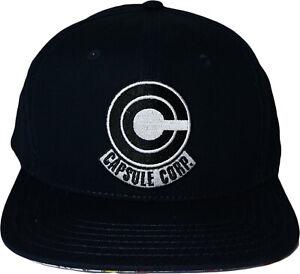 Dragon Ball Z Anime Capsule Corp Black Adjustable Cap Hat Official License Legit