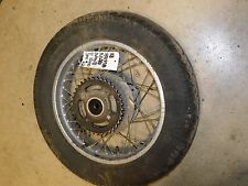 yamaha xs400 xs400h rear back rim wheel assembly spoke tire 1978 1979 1980 1981