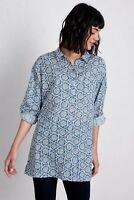 Seasalt Polpeor Shirt - Stamped Flower Voyage - Size 8 - 16