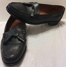 Allen Edmonds Naples Black Leather Tassel Loafer Dress Shoes Size 9 D Slip On