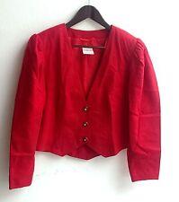 Damen Trachten Janker Jacke rot Gr. 42 v. Meico