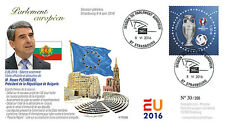 "PE698 FDC European Parliament ""President of Bulgaria Mr. Rosen PLEVNELIEV"" 06-16"