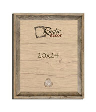 """20x24  – 2"""" Wide Signature Reclaimed Rustic Barn Wood Wall Frame with Plexiglass"""