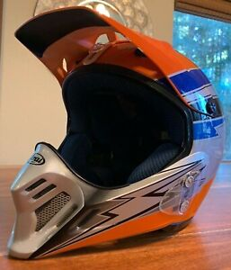 Arai Motocross Helmet - size L -- orange, blue, black