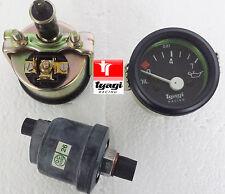 0-7 Bar Oil pressure BLACK DIAL Gauge Meter Van CAR BOAT 12v electrical