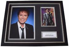 Cliff Richard Signed FRAMED Photo Autograph 16x12 display Music Memorabilia COA