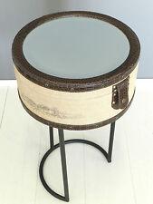 Tavolino tondo tavolo porta gioie bacheca tavolino da salotto juta vintage G