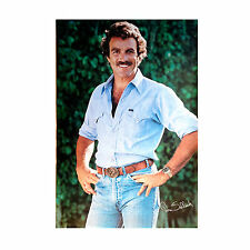 Vintage Tom Selleck Poster Original 1981 Magnum P.I Denim Shirt and Jeans