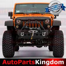 07-16 Jeep JK Wrangler Rock Crawler Pre-Runner Hoop+Front Bumper+Winch Plate