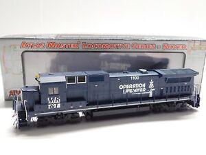 HO Scale Atlas Silver Milwaukee Racine & Troy Dash 8-40B Diesel Locomotive #1100
