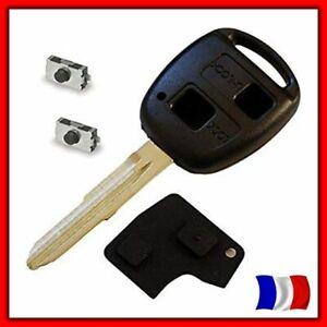 Coque Télécommande Clé Pour TOYOTA Yaris, RAV4, Celica, Prius +Bouton +2 Switchs