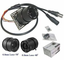 "Sunvision 960TVL 1/3"" HD Sony CCD Board Camera + 4 & 8mm CS Lenses (B01L)"