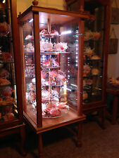 Rocks Fossils Crystals Minerals Display Case Revolves Dust Proof