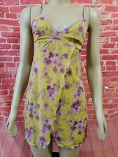 Cosabella Italia Stretchy Babydoll Yellow & Pink floral Size S?