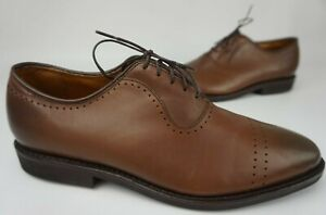 Allen Edmonds Ballard Coffee Brown Leather Oxfords Men's Shoes Size 9.5 D