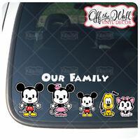 Mickey & Minnie Cuties Stick Figure Printed Waterproof Vinyl Sticker [PINK]