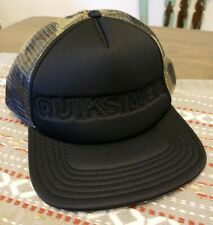 Quiksilver Mens Bountie Snapback Trucker Hat Black Camouflage