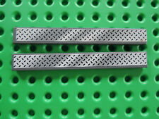 Lego 2 x Fliese 4162pb050 neu dunkelgrau 1x8 Sticker Tritt 8681