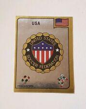 Panini World Cup Italia 90 - #95 USA Foil Badge - 1990