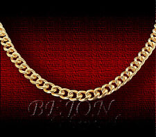 NEU TITAN KETTE PANZERKETTE HALSKETTE GOLD PLATTIERT  55cm  9,5mm *TK-01-55-G*
