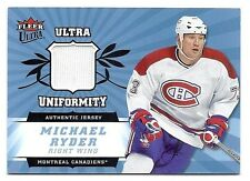Michael Ryder 2006-07 Fleer Ultra Uniformity Jersey card, # U-MR, Montreal