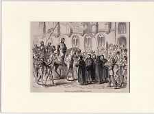 Antique matted print Middelburg / John I Count of Hainaut / Jan I van Avesnes