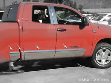 2007-Up Tundra Double Cab Stainless Steel Rocker Panel 6.8' Bed 10'' 8 Piece Set