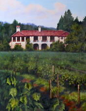 """Oil Painting """"Vineyards, Tuscany"""" 24x30 in."""