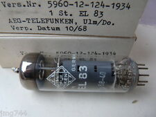 EL83 TELEFUNKEN & LT & GT 1068 nos Valve Tube 1 pc J