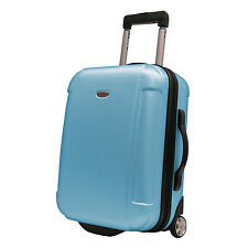 """Traveler's Choice Blue Freedom 21"""" Lightweight Carry-on Rolling Luggage Suitcase"""